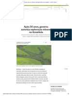 Após 30 Anos, Governo Autoriza Exploração Mineral Na Amazônia - Jornal O Globo