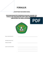 Formulir pendaftaran dinas