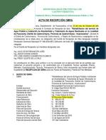 Acta de Recepcion de Obra Pacococha....
