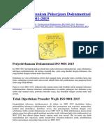 Menyederhanakan Pekerjaan Dokumentasi Pada ISO