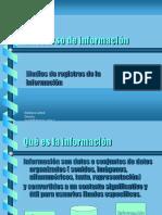 La Informacion y Los Medios de Registros