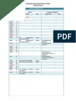Jadwal workshop akreditasi 2019