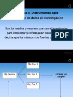 Tecnicas e Instrumentos para recolección de datos