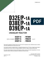 Komatsu D32E-1A Dozer Bulldozer Service Repair Manual SN P076093 and up.pdf