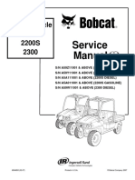 BOBCAT 2200 UTILITY VEHICLE Service Repair Manual SN A59Y11001 & ABOVE (2200 GASOLINE).pdf