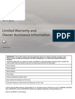 2018 Chevrolet Limited Warranty and Owner Assistance Information