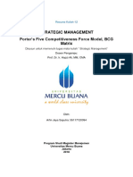12,SM,Arfin Jaya, Porter's Five Competitiveness Force Model, BCG Matrix, Universitas Mercu Buana,2018