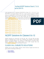 Get the Easy and the Best NCERT Solutions Class 6, 7, 8, 9, 10, 11 & 12 Updated for 2018-19