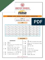 Class 03 NSTSE Solutions Paper Code 444 Buffer 2018