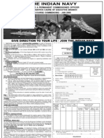 Join Indian Navy as Logistics Officer 2009
