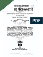 Internaionale Zeitschrift Für Ärztliche Psychoanalyse-Band 3.6 - 1915