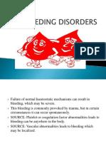 Bleeding Disorders Final Ppt