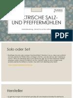 Einkaufsberatung - Elektrische Salz- Und Pfeffermühlen