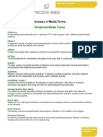 Glossary of Media Terms