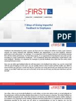7 Ways of Giving Impactful Feedback to Employees