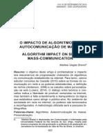 o Impacto Dos Algoritimos Na Comunicação de Massa