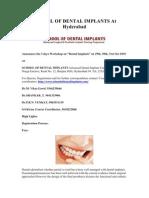 School of Dental Implants at Hyderabad