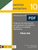 programa de intervención para agresores de violencia de género en medidas alternativas