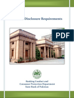 Product Disclosure Requirements