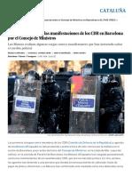 Llotja de Mar_ Cuatro Detenidos en Las Manifestaciones de Los CDR en Barcelona Por El Consejo de Ministros _ Cataluña _ EL PAÍS