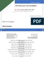 Turkish Mythology Dictionary - Multilingual