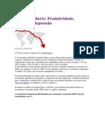 Michael Roberts. Produtividade, Deflação e Depressão