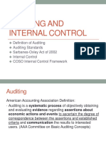CH 1 Auditing and Internal Control