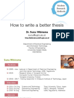 Writting Better Thesis - Sunu Wibirama