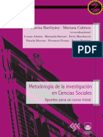 Batthianny - Metodología de Las Ciencias Sociales