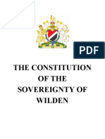 The Constitution of the Sovereignty of Wilden