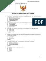 Soal Sejarah Nasional Indonesia
