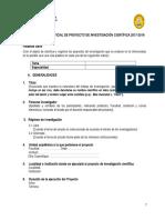 ESQUEMA DE PROYECTO DE INVESTIGACION USP