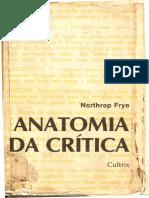 FRYE, Northrop - Anatomia Da Critica
