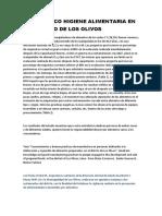 Diagnostico de Higiene Alimentaria en Negocios Del Distrito de Los Olivos