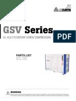 FS Curtis GSV75 Parts List