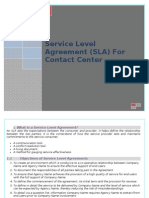 Service Level Agreement of Contact Centers By Suha