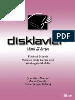 Disklavier Manual