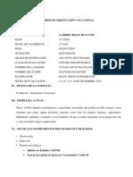 Informe de Orientacion Vocacional de Adriana Milagros Flores Alata