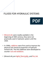 Fluids for Hydraulic Systems