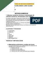 MÉTODOS NUMÉRICOS informe