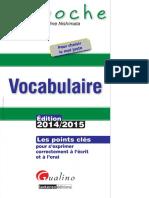 Vocabulaire 2014 2015