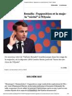 """Passeports de Benalla - l'opposition et...orité réclament la """"vérité"""" à l'Elysée"""