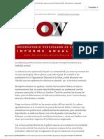 OVV-LACSO_ Informe Anual de Violencia 2018, Presentación e Infografías
