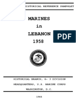 Marines in Lebanon 1958