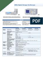 Digital Storage Oscilloscope GDS-800 Series