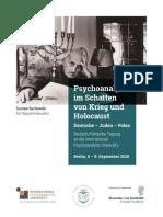 2018 09 06 Berlin Flyer Tagung Psychoanalyse Schatten Krieg Holocaust Polen