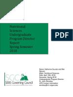 nutrtional sciences report spring 2018