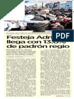 28-12-18 Festeja Adrián; llega con 13.6% de padrón regio
