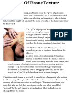 Palpation Of Tissue Texture Changes