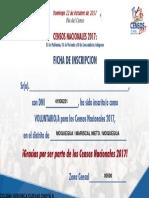 Ficha de Inscripción Censo 2017